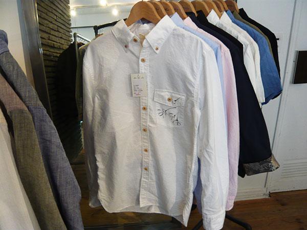 和柄長袖シャツ