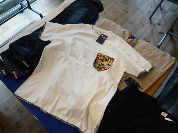 金襴ポケットTシャツ