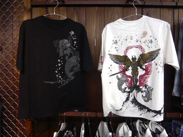 翼人牙狼×鯉桜 和柄Tシャツ