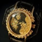 達磨 蒔絵 和柄腕時計 鳳凰