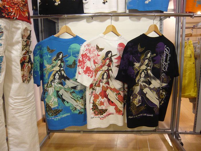 妃那&一華地獄蝶和柄Tシャツ