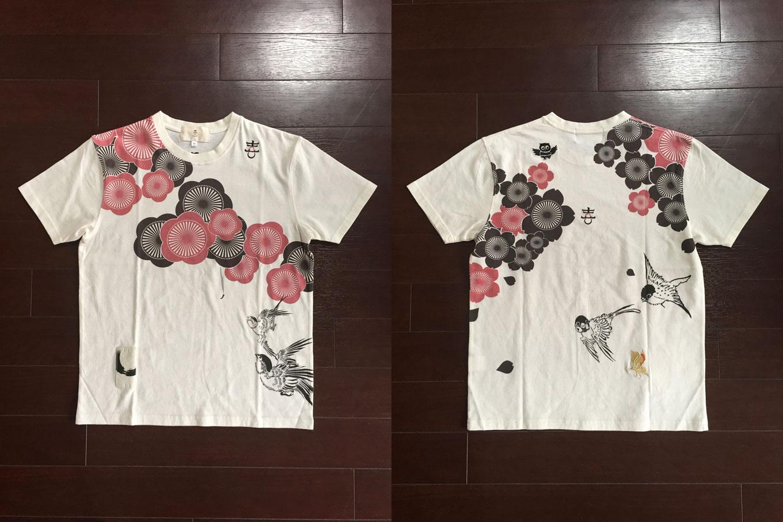 季節は流れ和柄Tシャツ