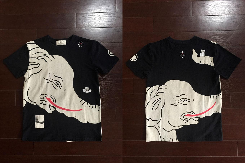 象さん和柄Tシャツ