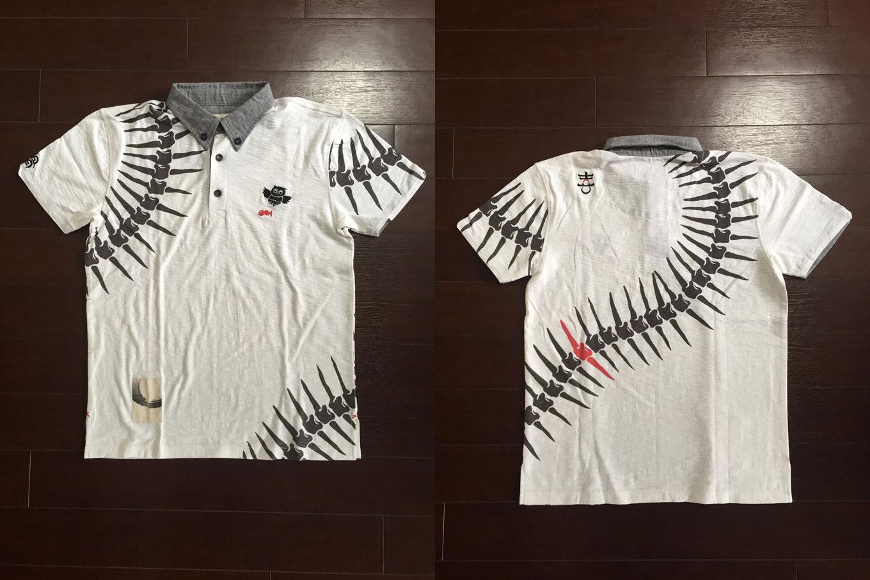 骨和柄ポロシャツ