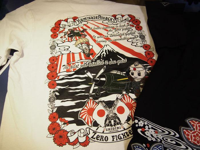 カミカゼアタック和柄Tシャツ