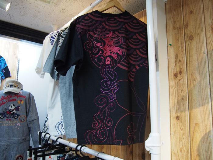 青海波猫和柄Tシャツ