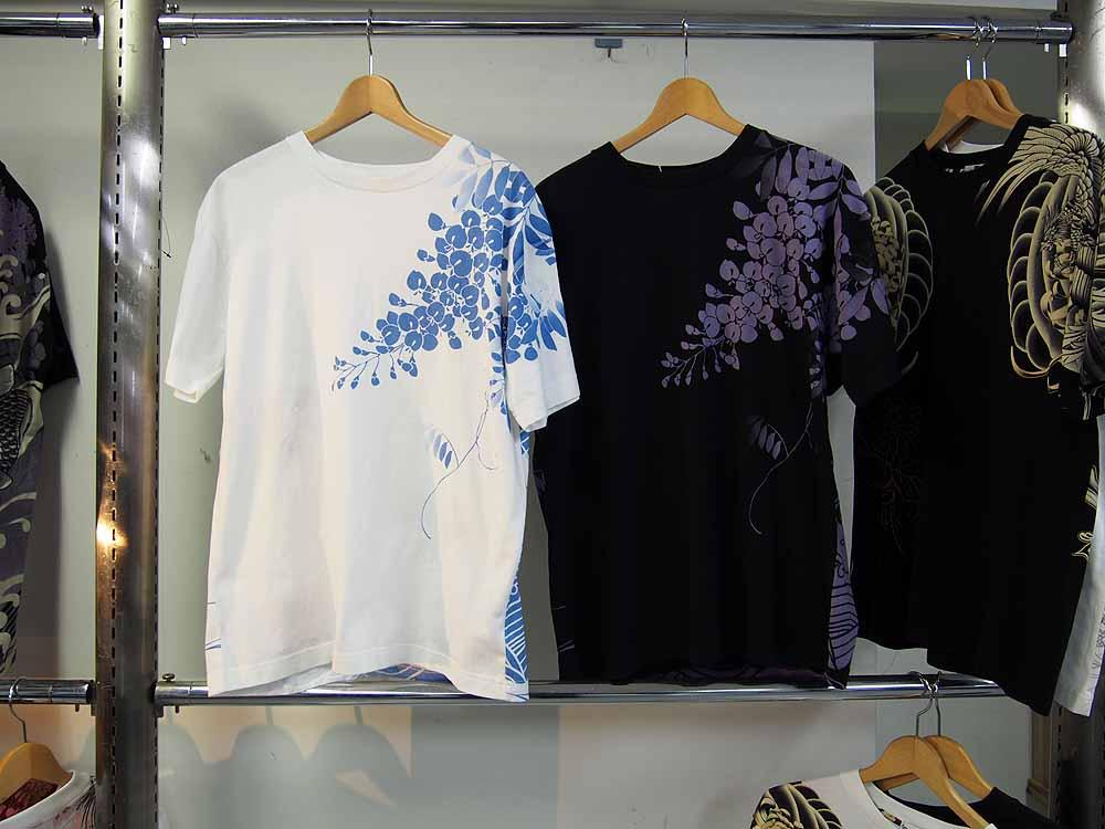 金魚刺繍 和柄Tシャツ