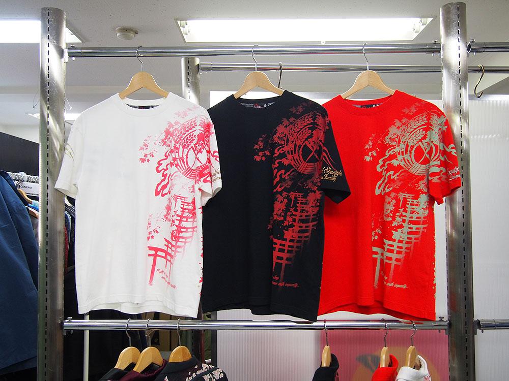 結愛 狐火舞 和柄Tシャツ