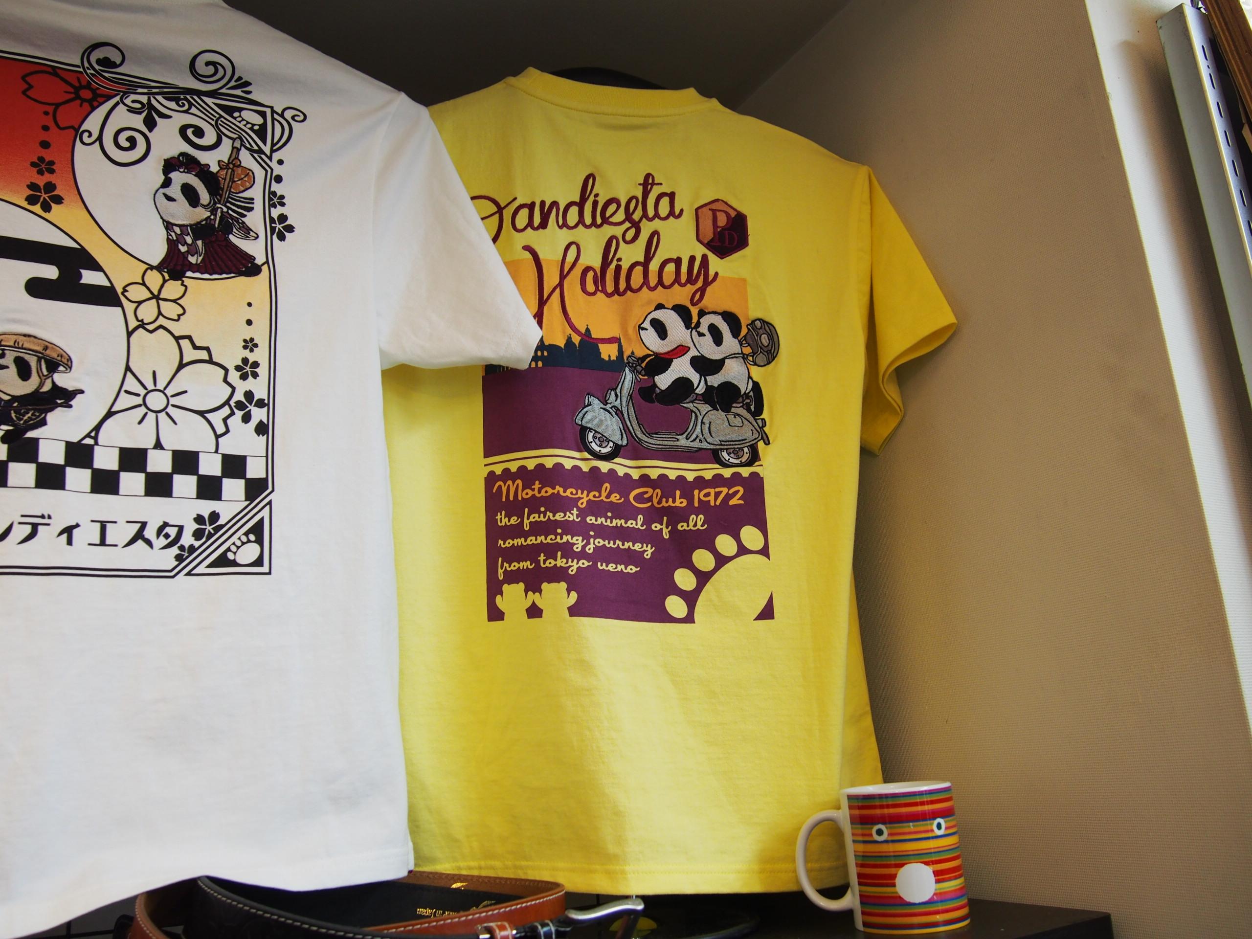 錦パンダ ローマの休日 Tシャツ