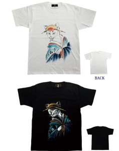 和柄Tシャツ