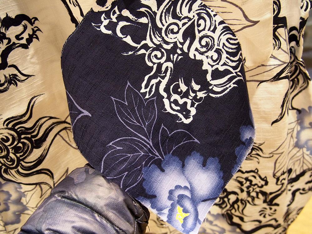 唐獅子牡丹 和柄半袖シャツ