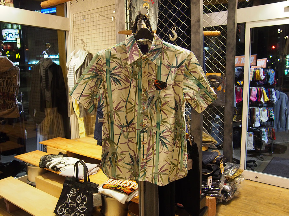 百花繚乱[竹] 和柄半袖シャツ