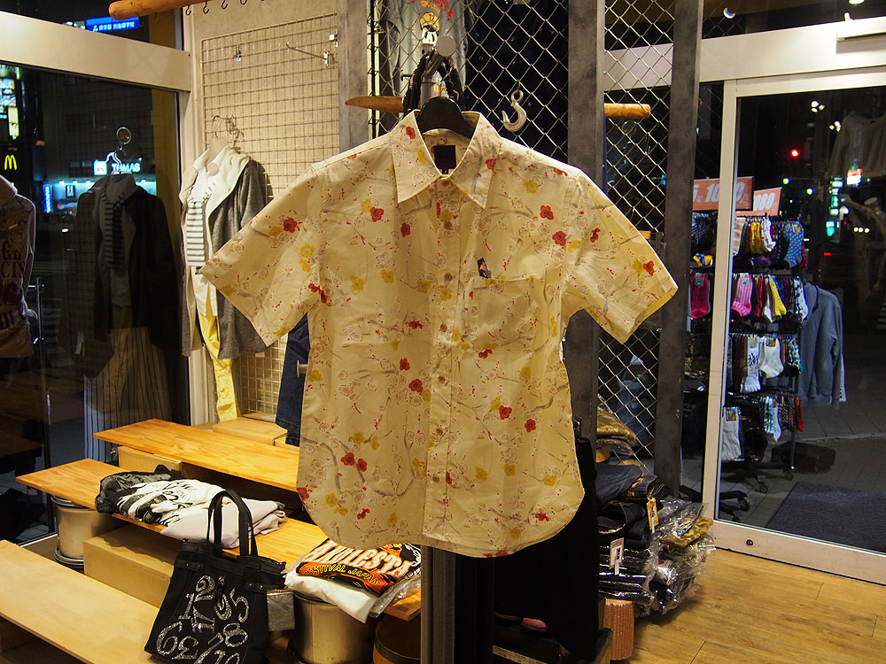 百花繚乱[梅] 和柄半袖シャツ