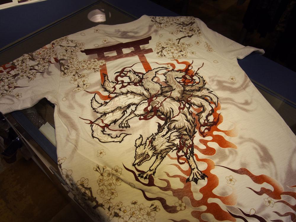 九尾 和柄Tシャツ