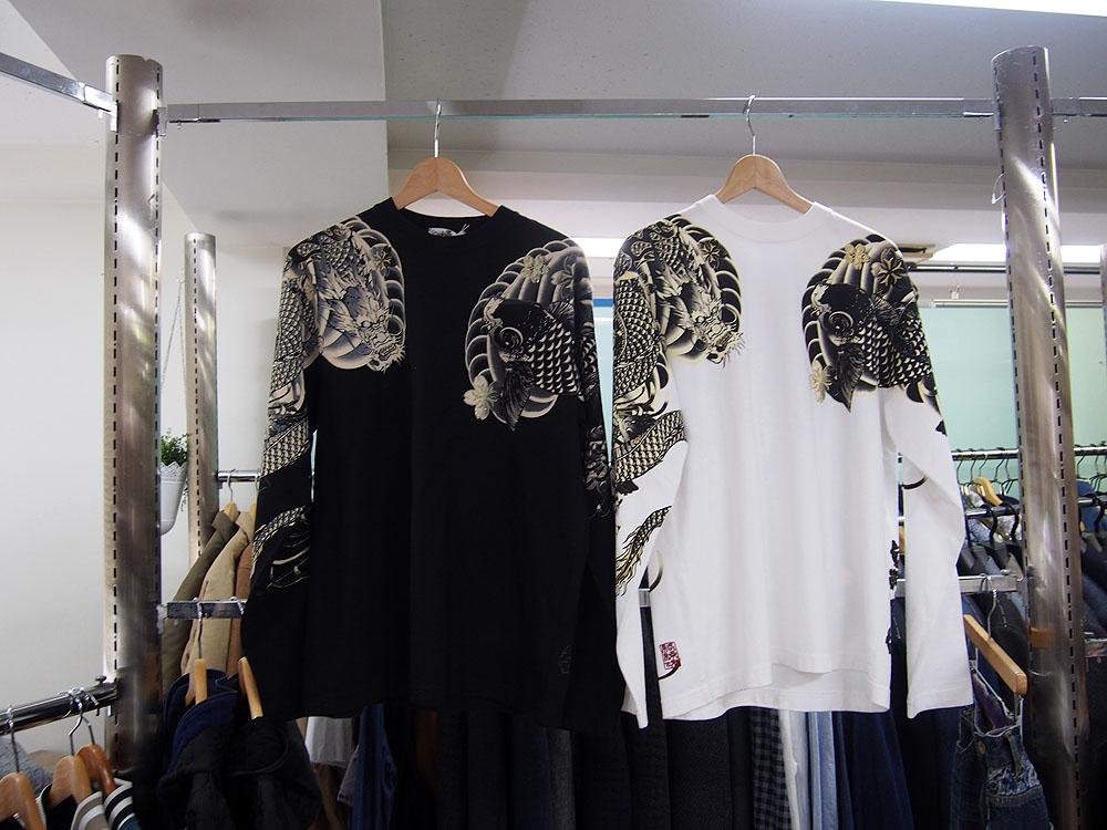 絡繰魂 和柄ロングTシャツ