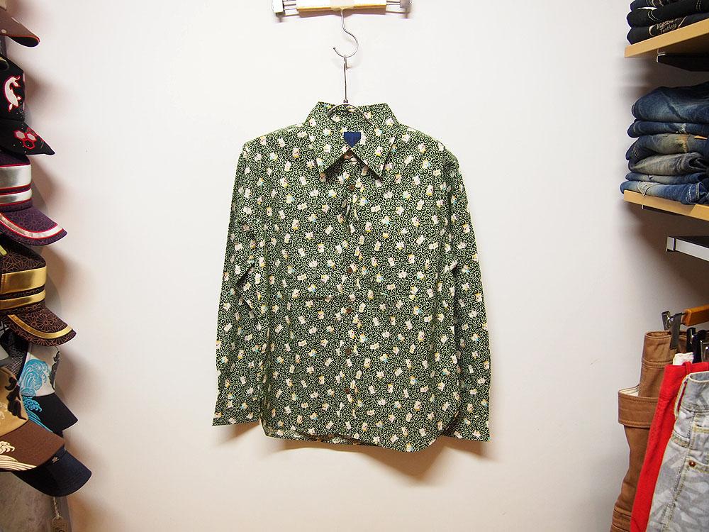 衣櫻 和柄長袖シャツ
