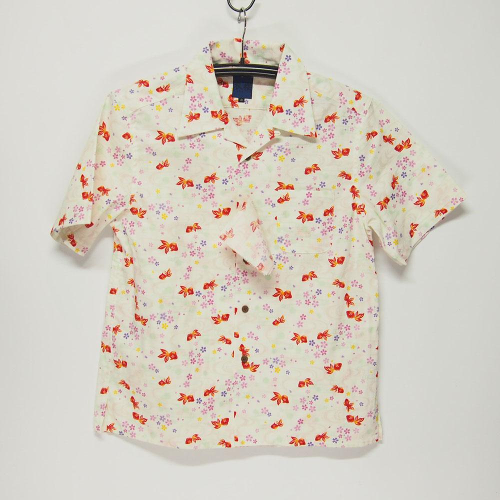 衣櫻 SA-1123 流水金魚 和柄半袖シャツ