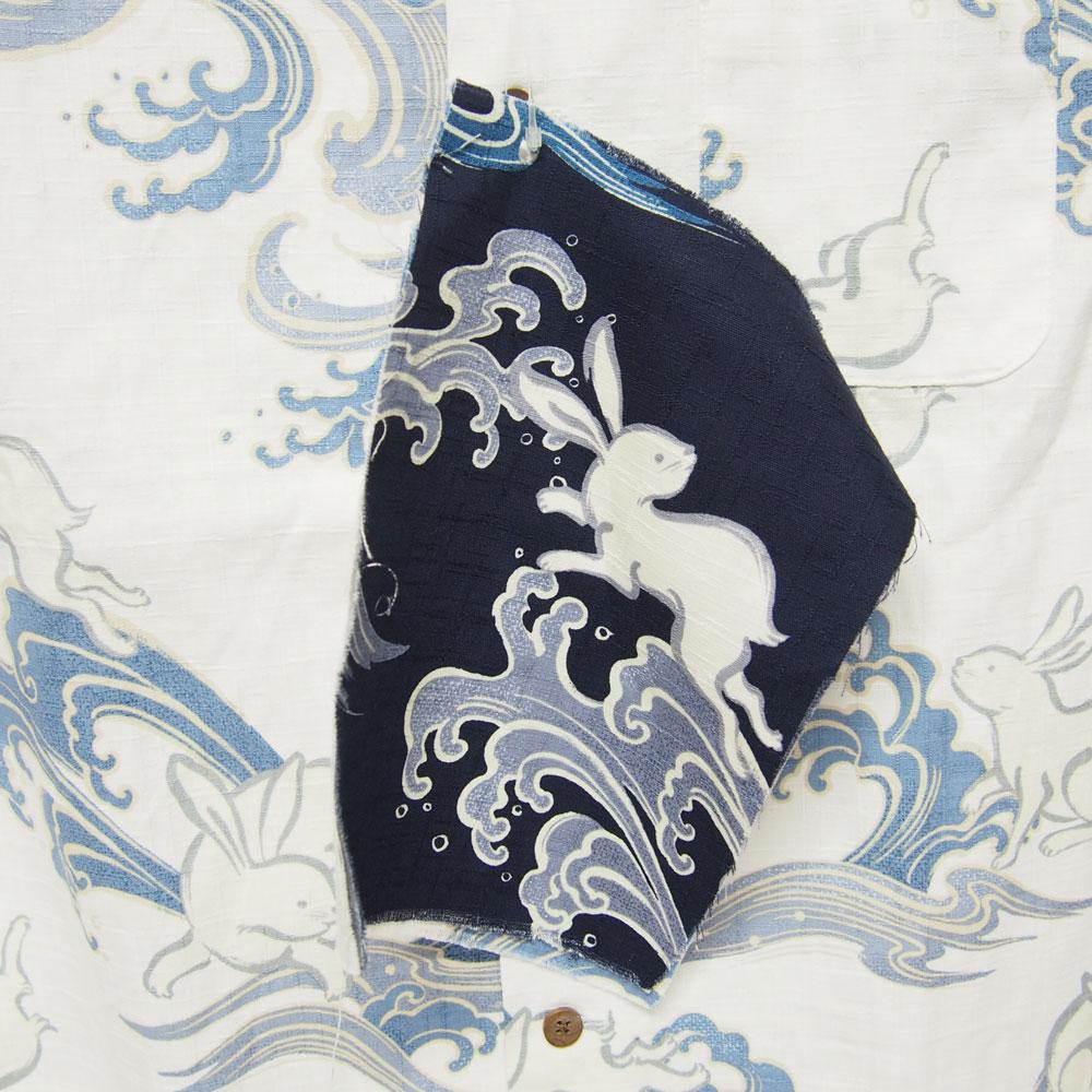 衣櫻 SA-1124 波兎 和柄半袖シャツ