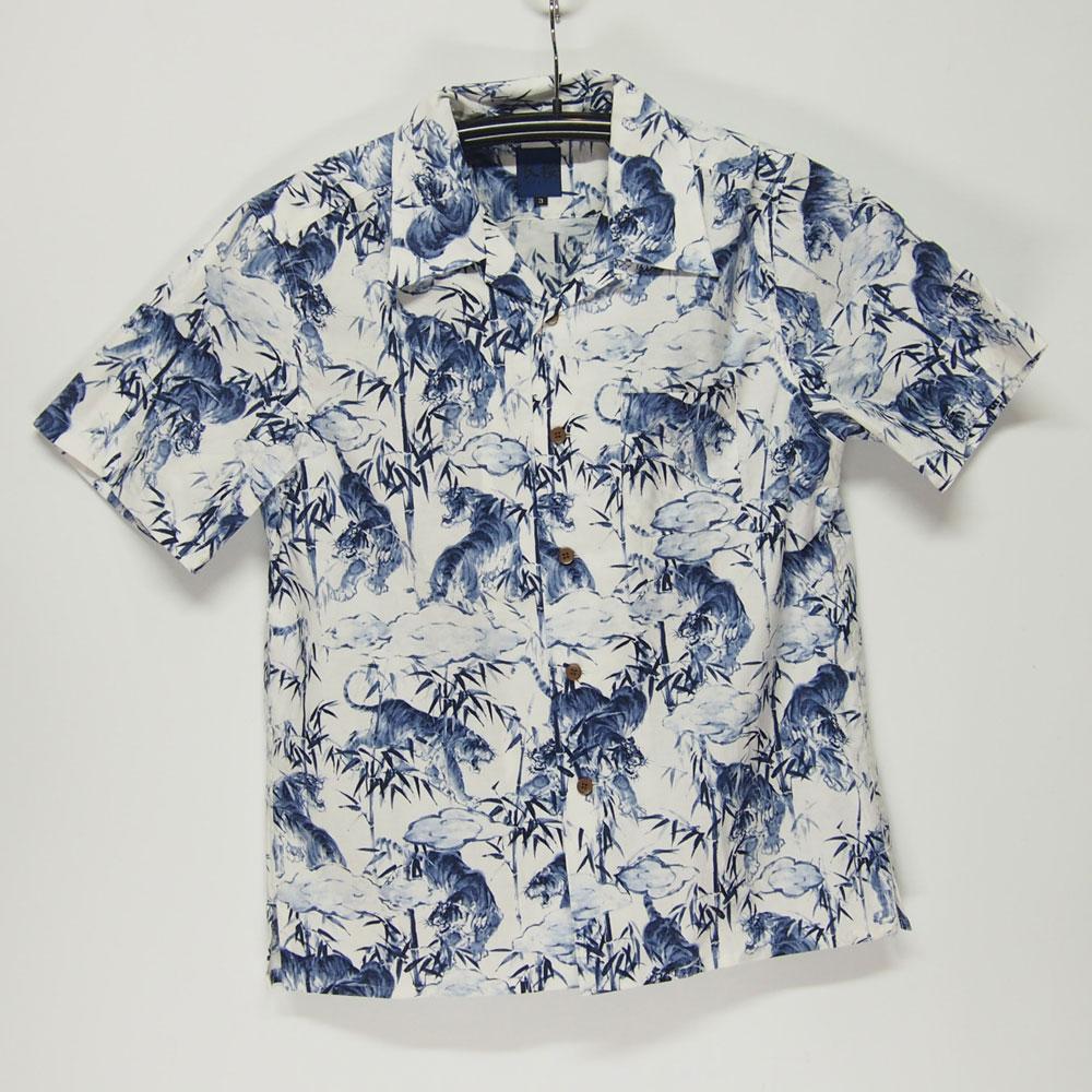 衣櫻 SA-1128 竹虎 和柄アロハシャツ