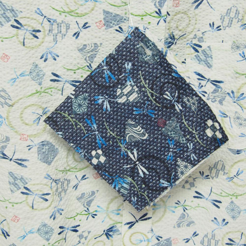 衣櫻 SA-1134 カスレ蜻蛉 和柄半袖シャツ