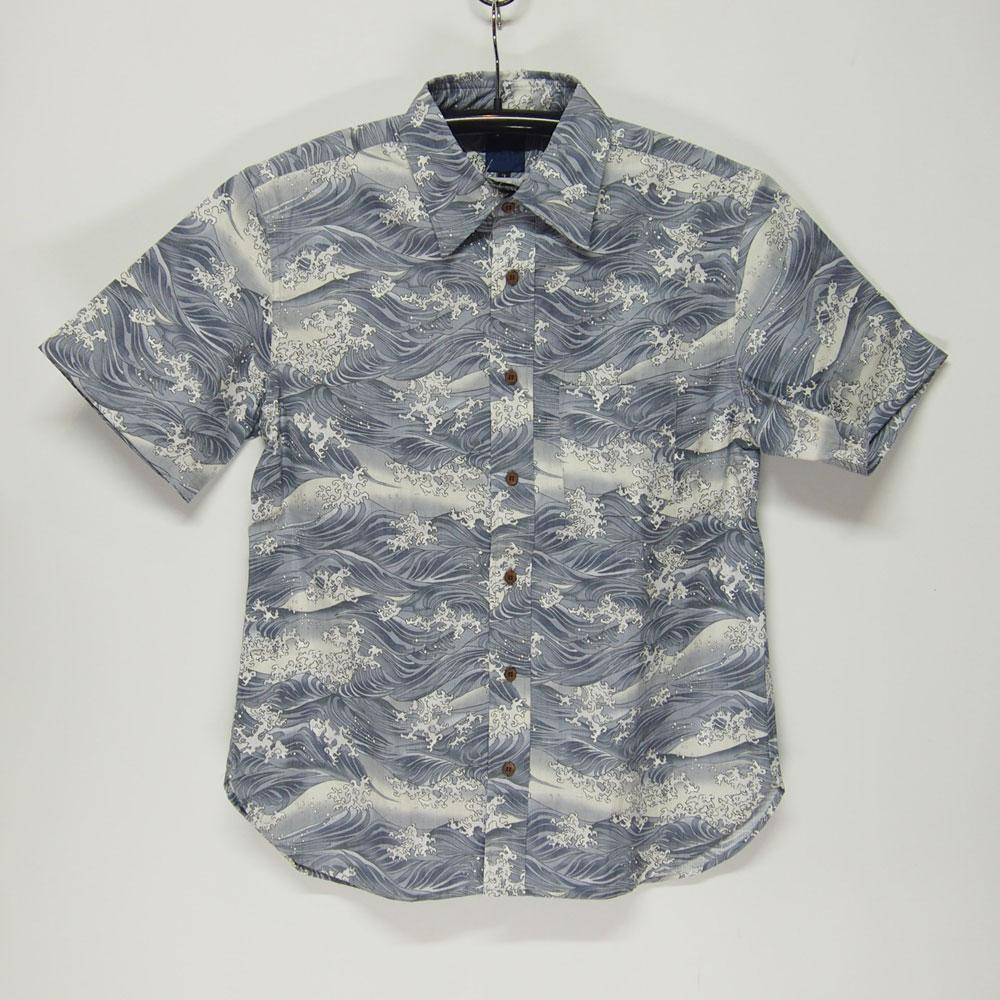 衣櫻 SA-1136 荒波 和柄半袖シャツ