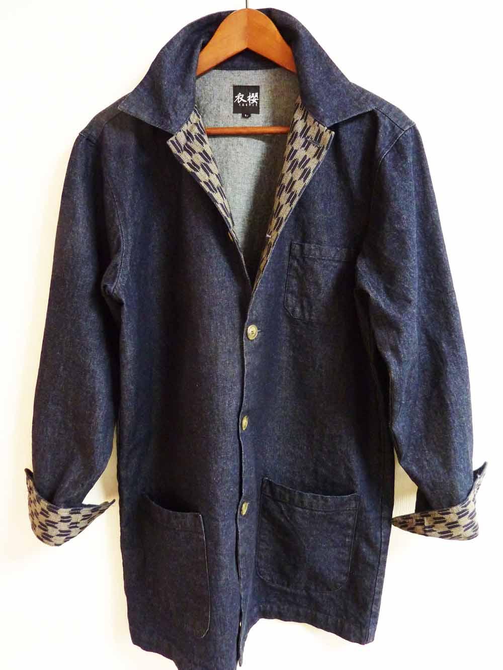 衣櫻 SA-1167 デニムシャツ和柄長袖シャツ/19800円/納期9月中旬