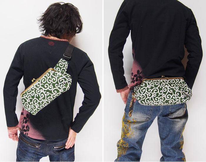 衣櫻の唐草(ミドリ)がま口バッグが再入荷します!