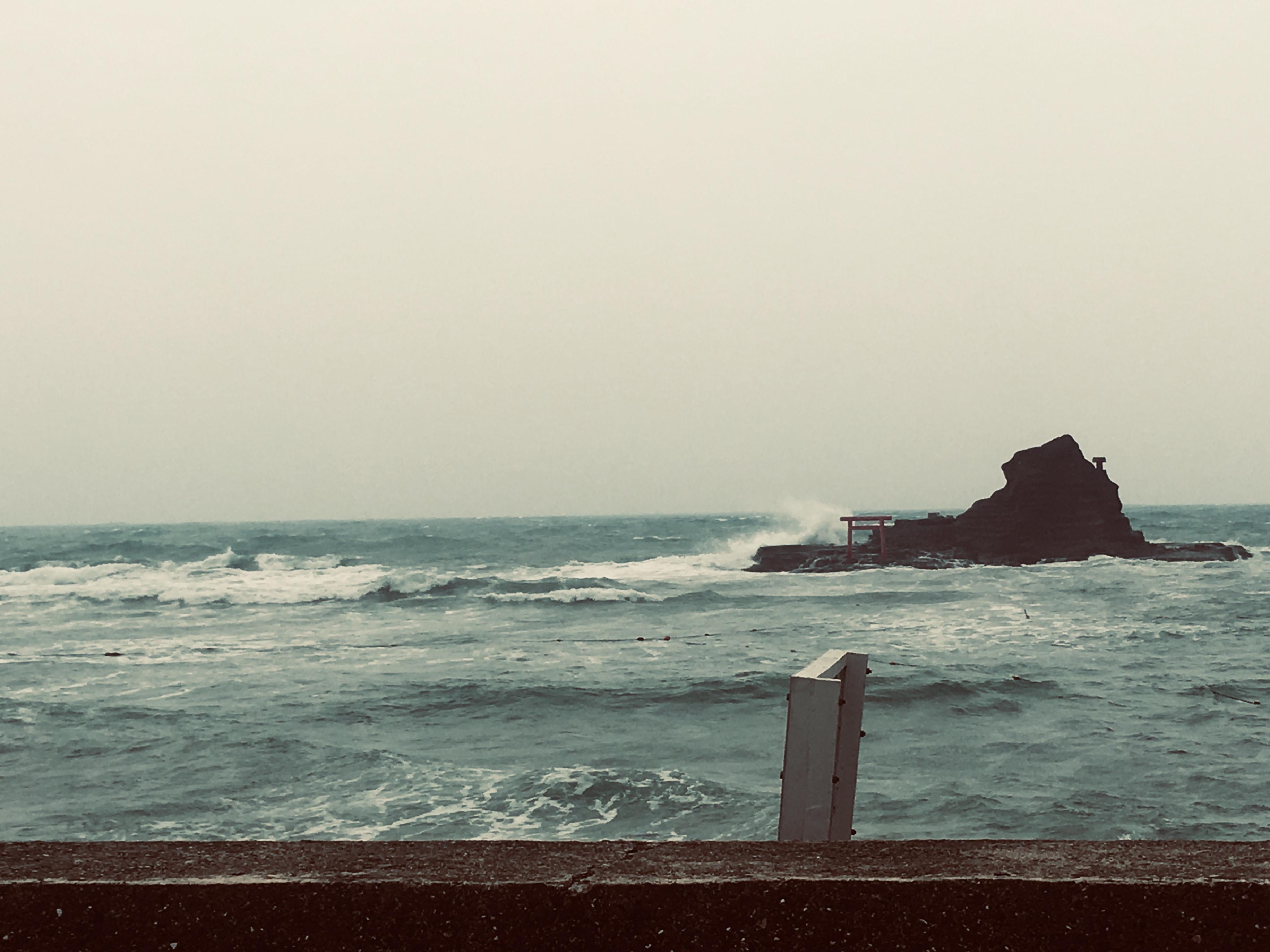 海に行って来ました!が、、台風で大荒れ 悲しき事態に💧